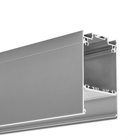 Profil LED DES, aluminium anodowane, profil podwieszany