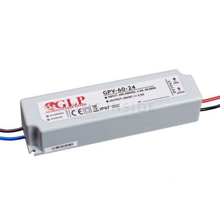Zasilacz LED GPV-60-24 2,5A 60W 24V IP67