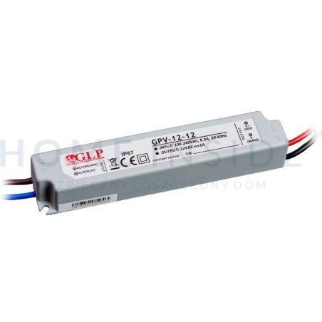 Zasilacz LED GPV 12V 12W, CV, non-PFC, IP67