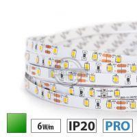 Taśma LED PRO 6W/m, 60xLED SMD 2835/m, IP20, zielony, 1m