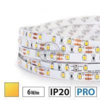 Taśma LED PRO 6W/m, 60xLED SMD 2835/m, IP20, żółty, 1m