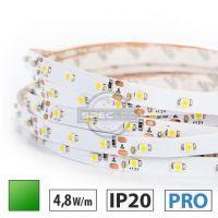 Taśma LED PRO 4,8W/m, 60xLED SMD 3528/m, IP20, zielony, 1m