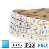 Taśma LED PRO 14,4W/m, 60xLED SMD 5050/m, IP20, niebieski, 1m
