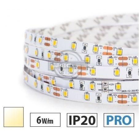 Taśma LED PRO 6W/m, 60xLED SMD 2835/m, IP20, biały ciepły, 1m