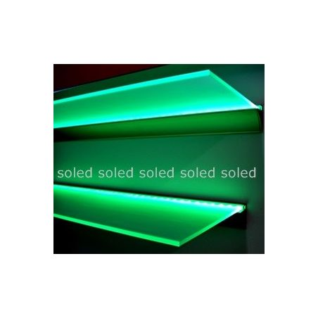 Półka z oświetleniem LED 80x20x0,6cm RGB