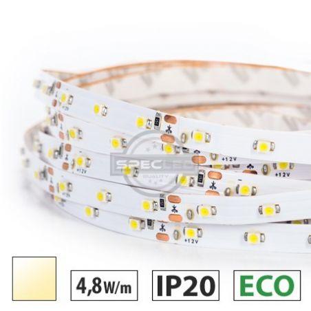Taśma LED ECO 4,8W/m, 300LED SMD 3528/m, IP20, biały ciepły, 5m