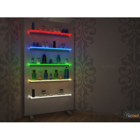 Półka podświetlana LED 80x20x0,6cm