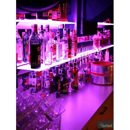Półka z oświetleniem LED 80x20x0,8cm RGB
