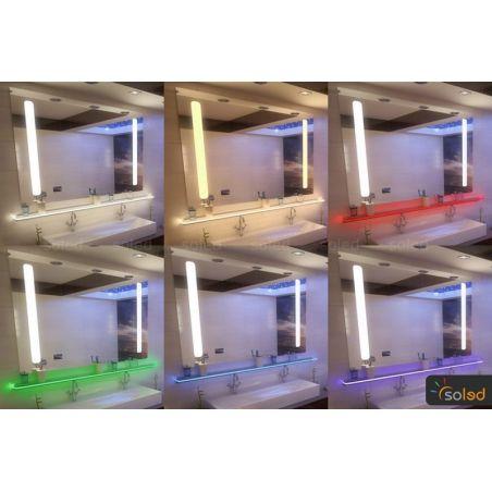 Półka z oświetleniem LED 100x20x1cm RGB