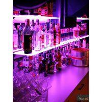 Półka z oświetleniem LED 120x20x0,6cm RGB