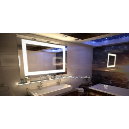 Lustro podświetlane LED EWA 80x60cm POZIOM
