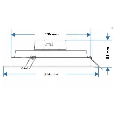 Oprawa downlight 18W ECO LED 4000K chrom mat