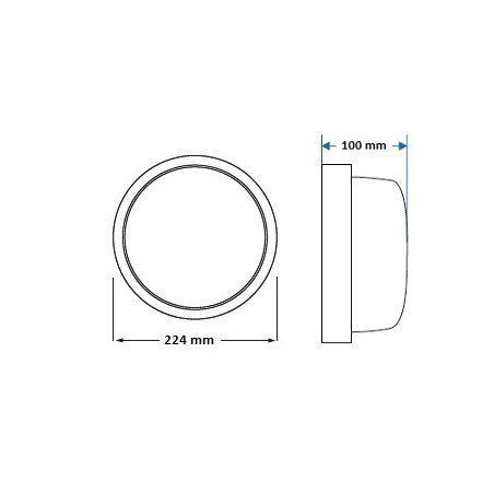 Plafoniera 100W IP44 KRYSIA klosz szklany