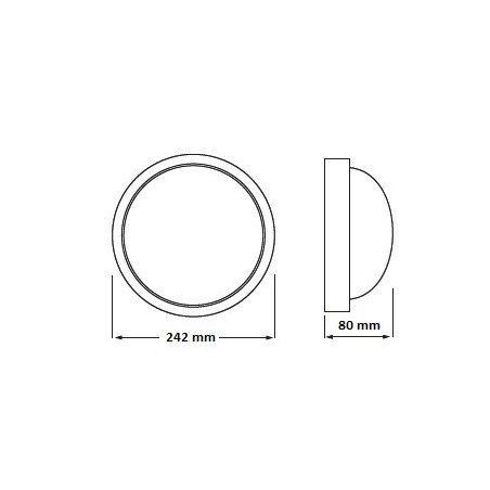 Plafoniera 100W IP44 ZOSIA klosz szklany