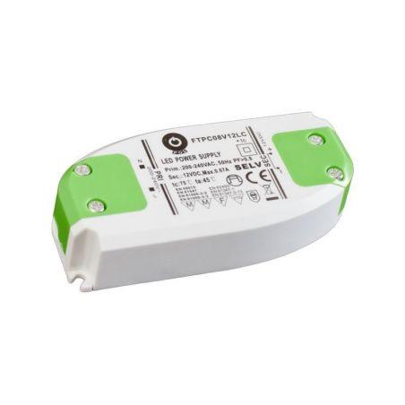 Zasilacz meblowy FTPC8V12LC, 8W, IP20, 12VDC/0.67A