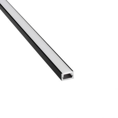 Profil aluminiowy MICRO - ALU anodowany lakierowany proszkowo na kolor czarny  RAL9005 1m