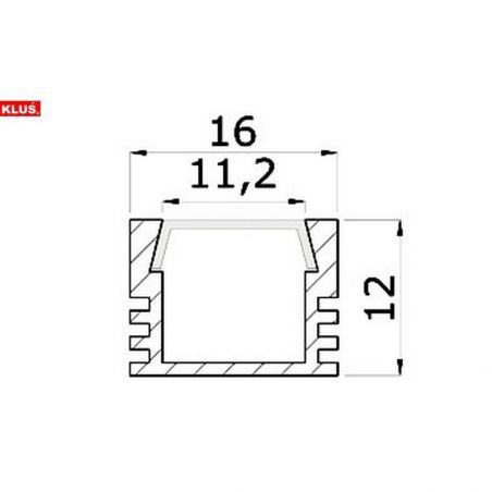 Profil aluminiowy LED PDS 4 - ALU anodowany  kolor szary 1m