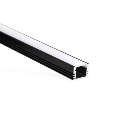Profil aluminiowy LED PDS 4 - ALU anodowany na kolor czarny 1m