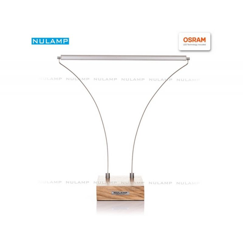 Lampa biurkowa LED NULAMP B DĄB 40, 8,3W, 900lm, 5000K, Ra80