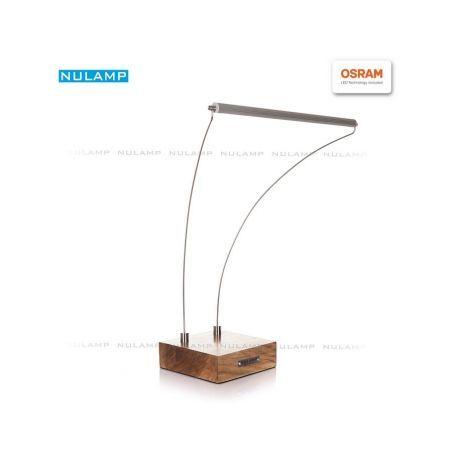 Lampa biurkowa LED NULAMP B DĄB 8,3W, 880lm, 4000K, Ra80