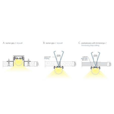 Lampa NULAMP GIP RUNDO P 100cm, 22W, 2400lm, 5000K, Ra85